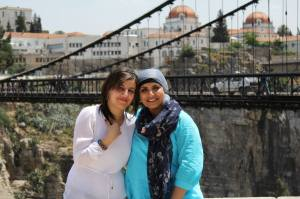 Me and Amel from Algerian Ministry of Tourism  as part of SITEV 2013, in Constantine - the city of bridges.