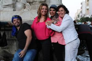 Me in Setif at the famous fountain monument with friends made on SITEV 2013.