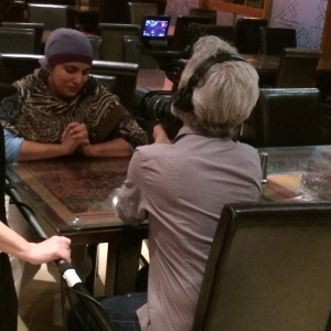 Me doing my piece to camera about Ramadan and Iftar with the BBC team