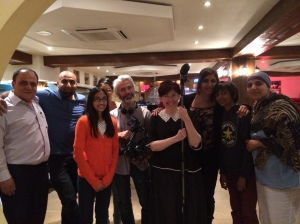 The BBC team with Shakeel from Maedah grill plus my little helpers!